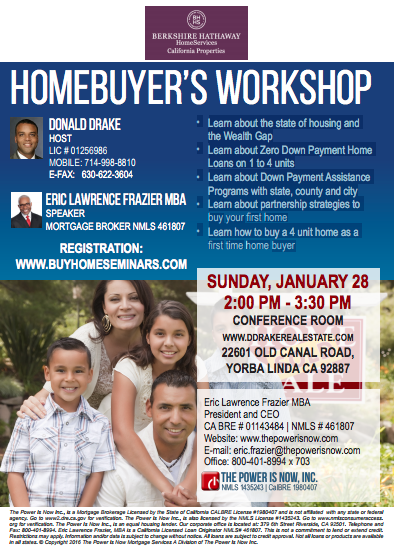Homebuyer's Workshop Yorba Linda, CA