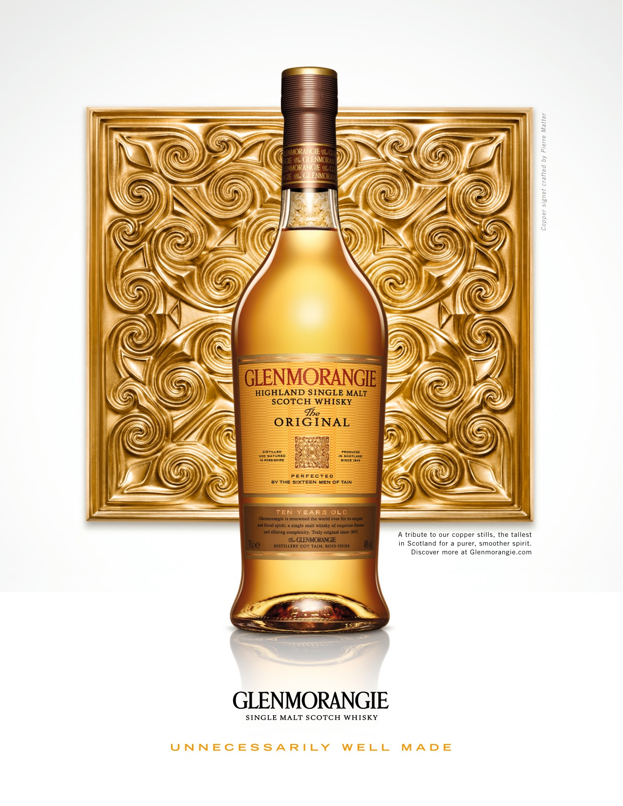 Glenmorangie Original in front of Copper Signet