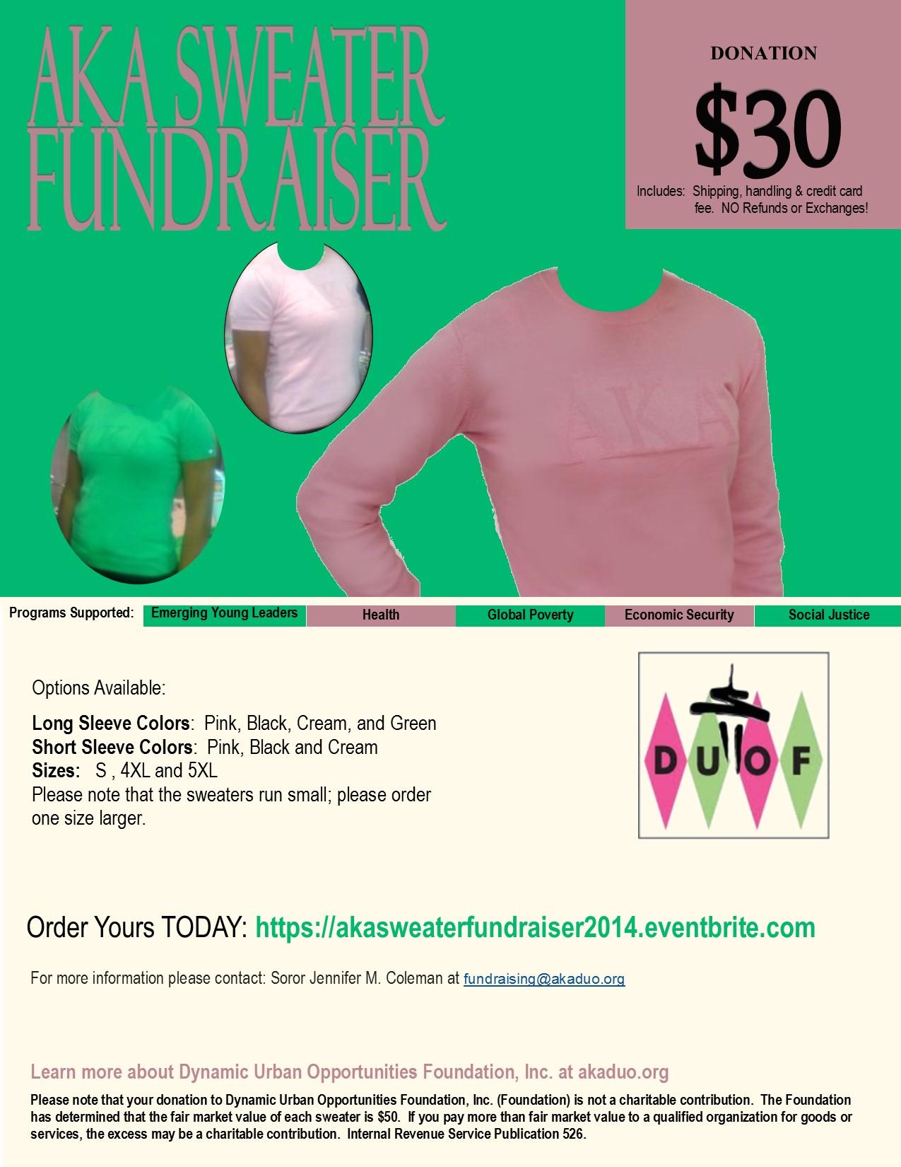 AKA Sweater Fundraiser 2014