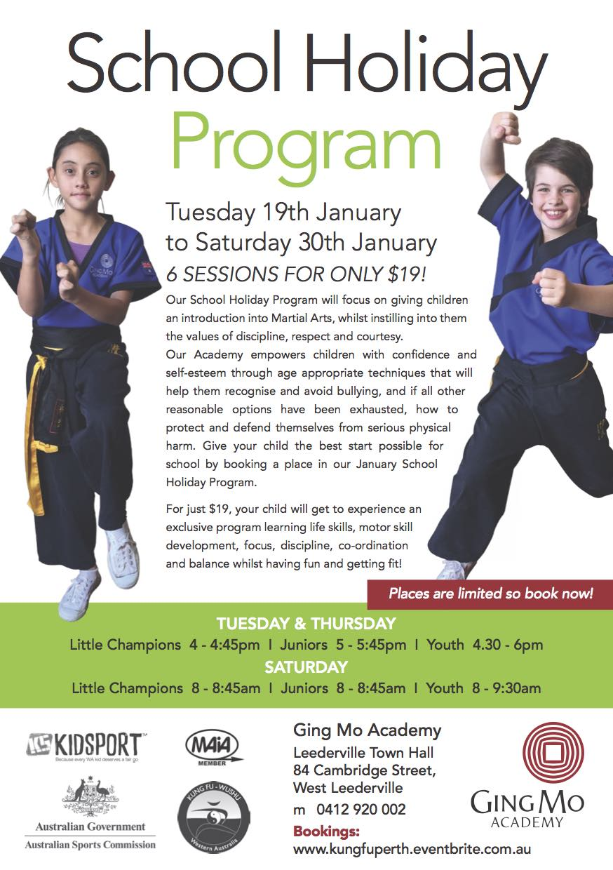 2015 school holiday program January