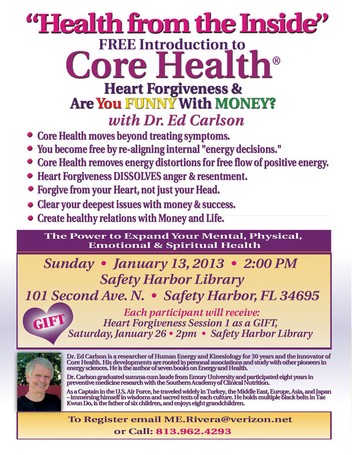 Core Health/Heart Forgiveness Free Introduction