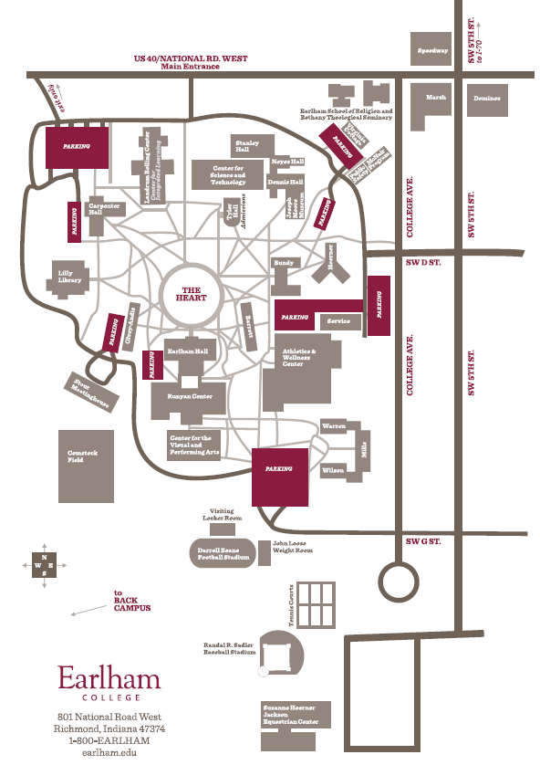 Earlham College Campus Map