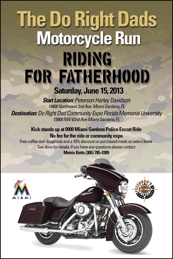 Motorcycle Run Fighting For Fatherhood