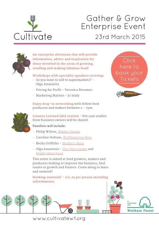 Gather & Grow, how to grow your food business, part of Cultivate Waltham Forest