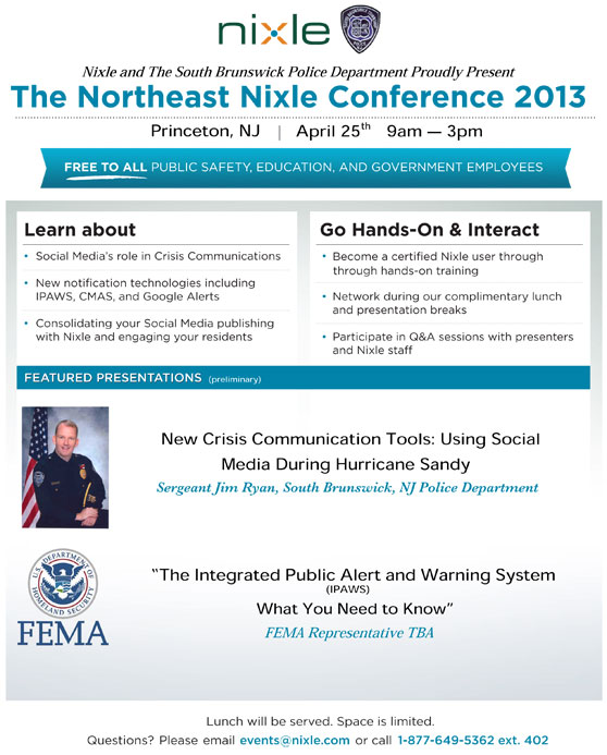 The Northeast Nixle Conference 2013
