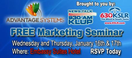 Advantage Plan Marketing Seminar (Jan 16th & 17th, 2013)