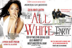 ALL WHITE OPEN BAR PARTY SUN MAY 26TH NO QUESTION PERFORMING...