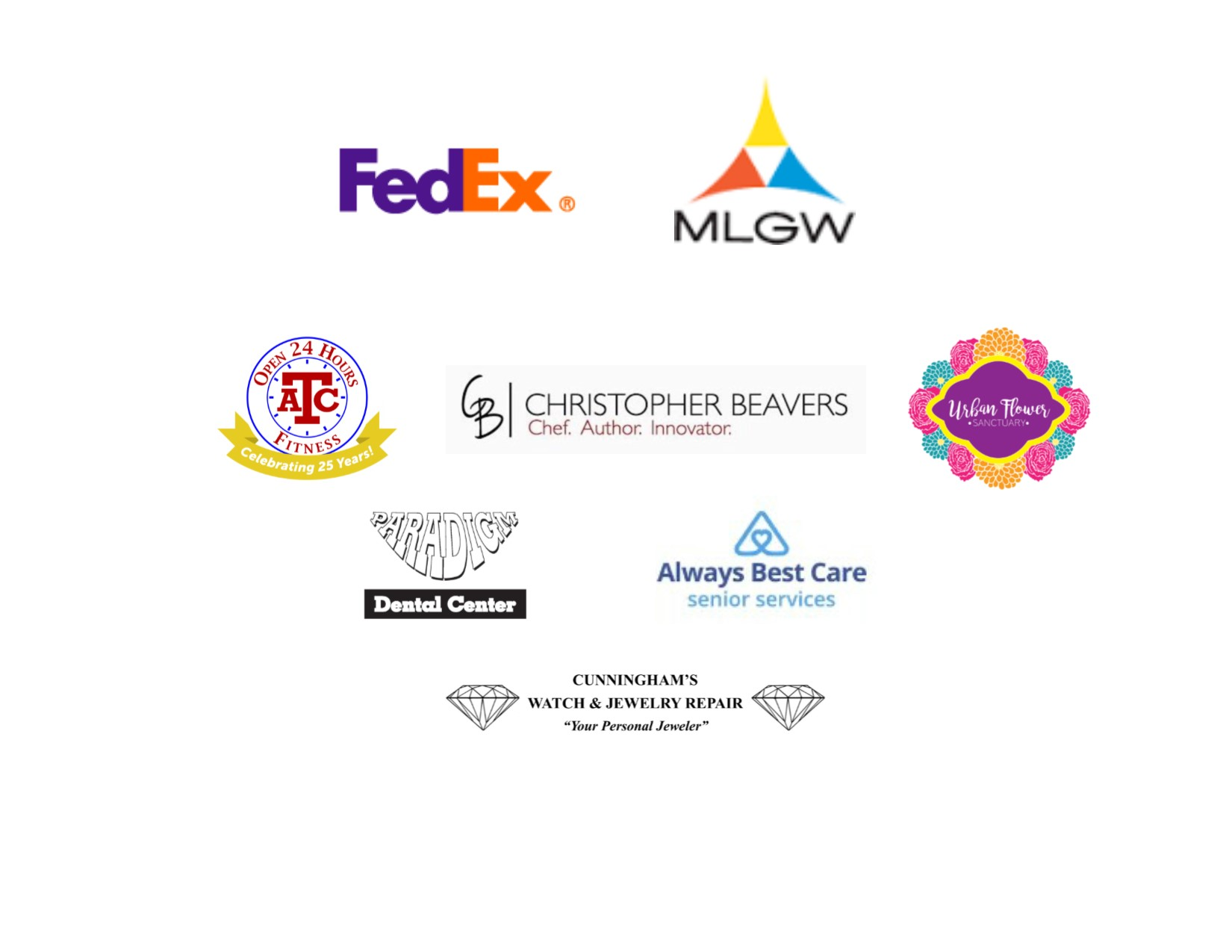 2018 Love Yourself Event sponsors