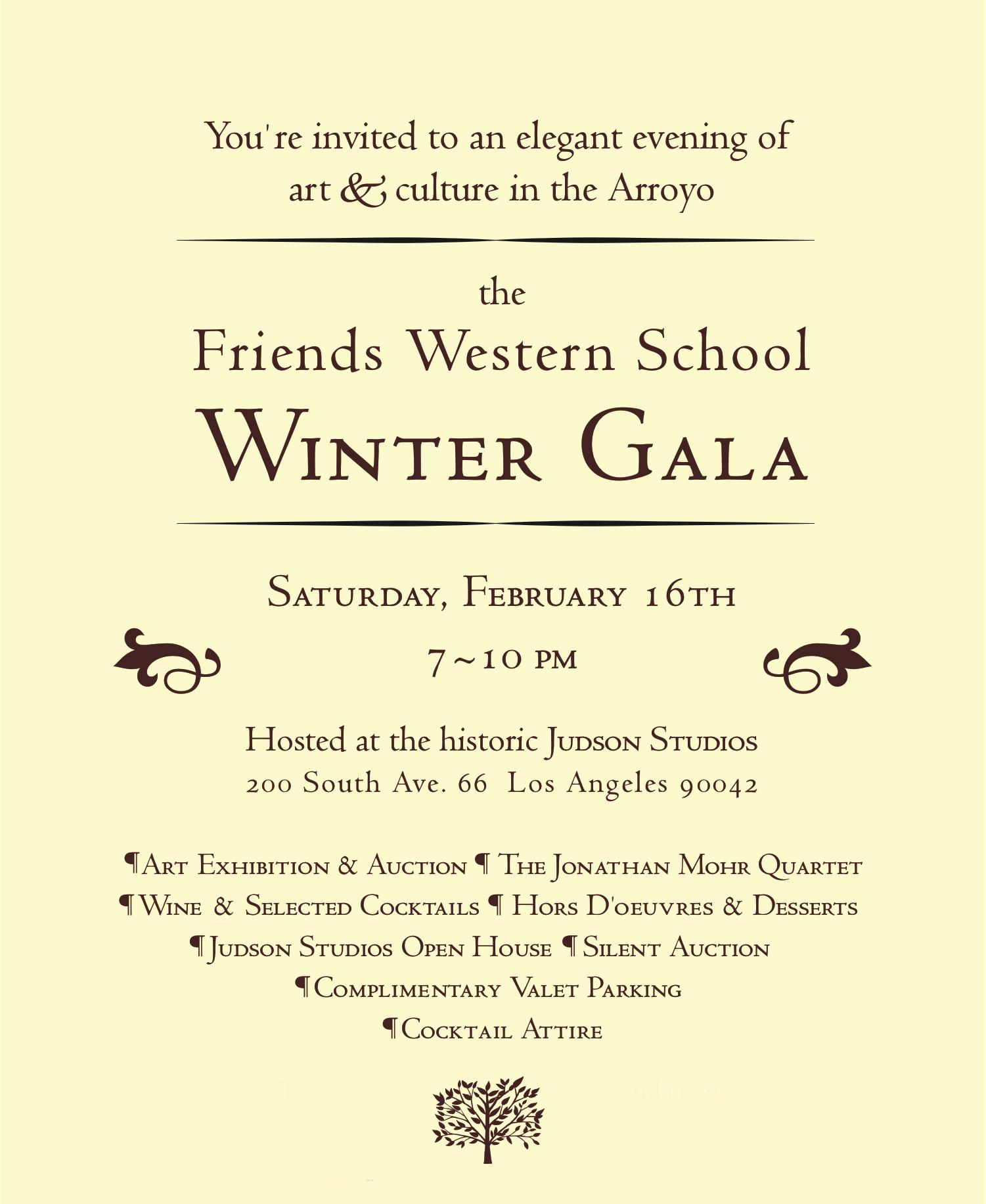 Friends Western School 2013 Winter Gala at The Judson Studios