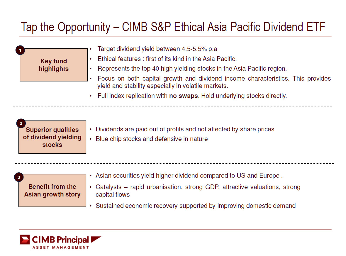 CIMB S&P Ethical Asia Pacific Divident ETF