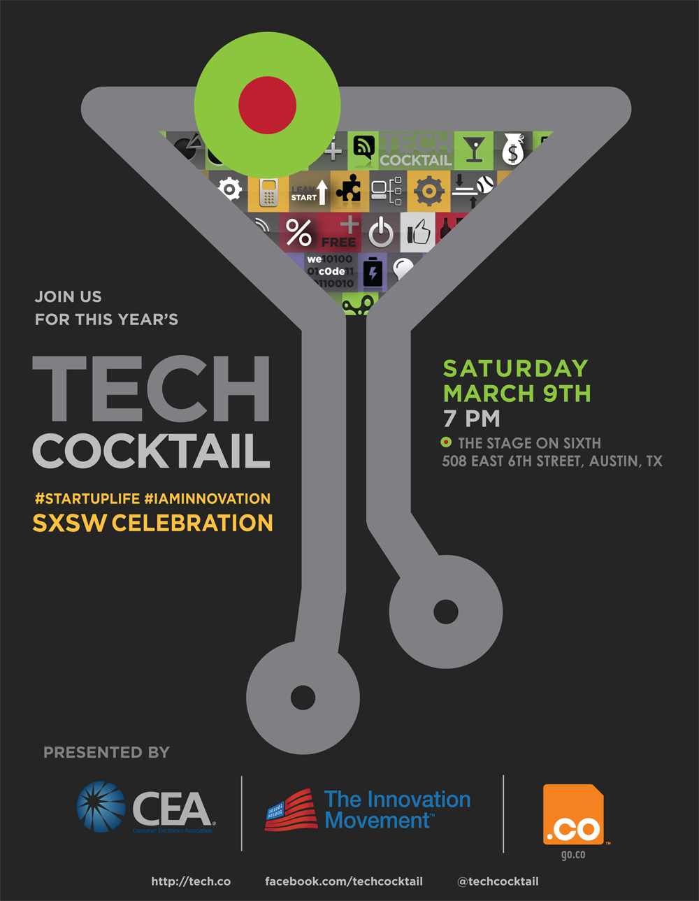 Tech Cocktail's SXSW Startup Celebration sponsored by CEA and .CO