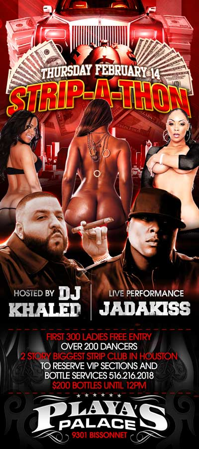 FEB14TH JADAKISS PERFORMING LIVE AT THE ONLY OFFICIAL STRIP-A-THON hOSTED bY DJ KHALED over 200 dancers all night