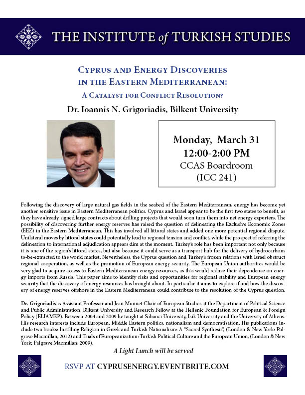 Cyprus and Energy Discoveries in the Eastern Mediterranean: A Catalyst for Conflict Resolution?