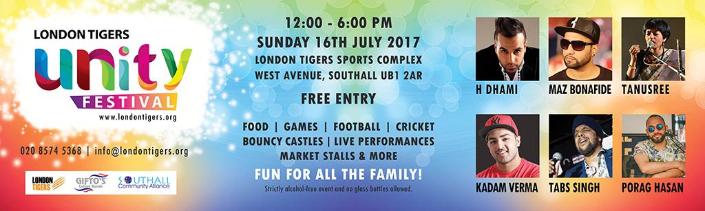 London Tigers Unity Festival 16th July 2017