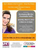 Developing Effective Presentation Skills Workshop / Pilar...