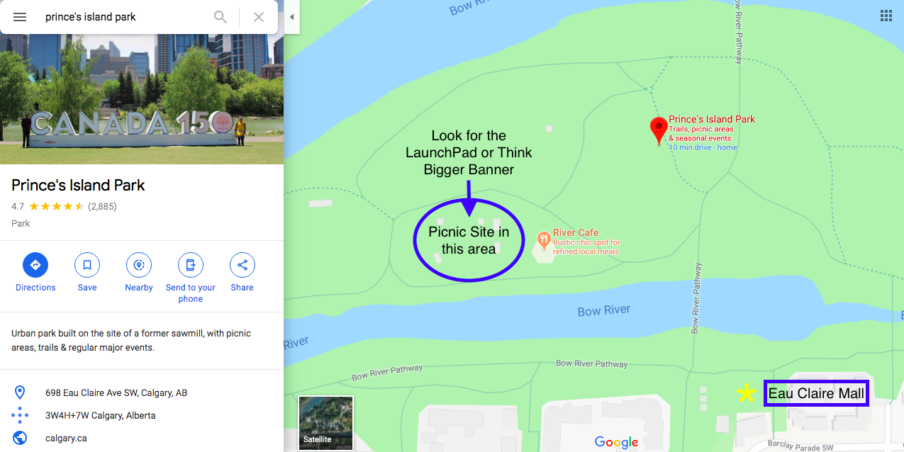 meetup location map