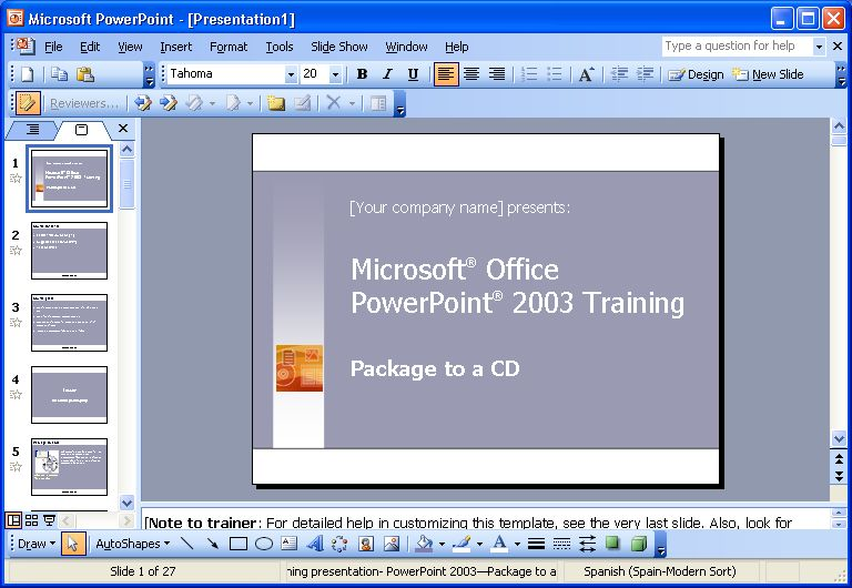 Presentation software such as microsoft powerpoint can be used as a method of
