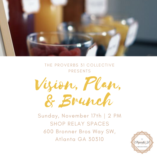 Vision, Plan, Brunch flyer