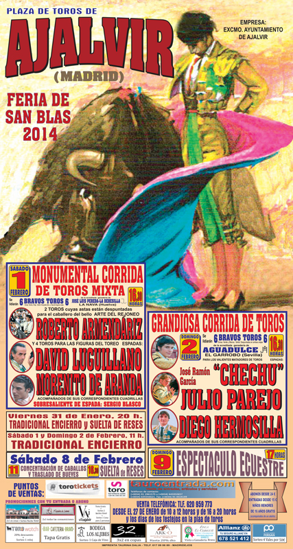 Cartel Feria Taurina Ajalvir 2014
