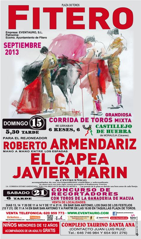 Cartel Feria Taurina de Fitero 2013