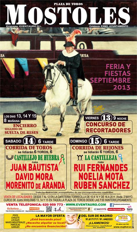Cartel Feria Taurina de Mostoles 2013