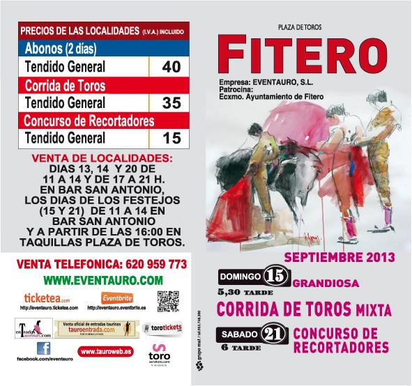Listado de Precios Feria Taurina de Fitero 2013