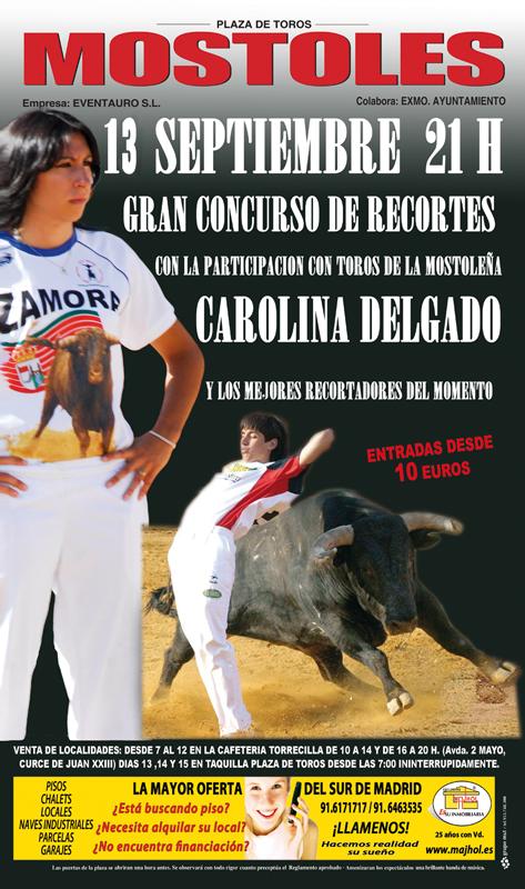 Cartel de Recortes Feria Taurina de Mostoles 2013