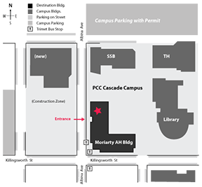 map to PCC Auditorium