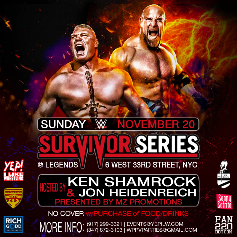 WWE Survivor Series Viewing Party at Legends Bar in NYC