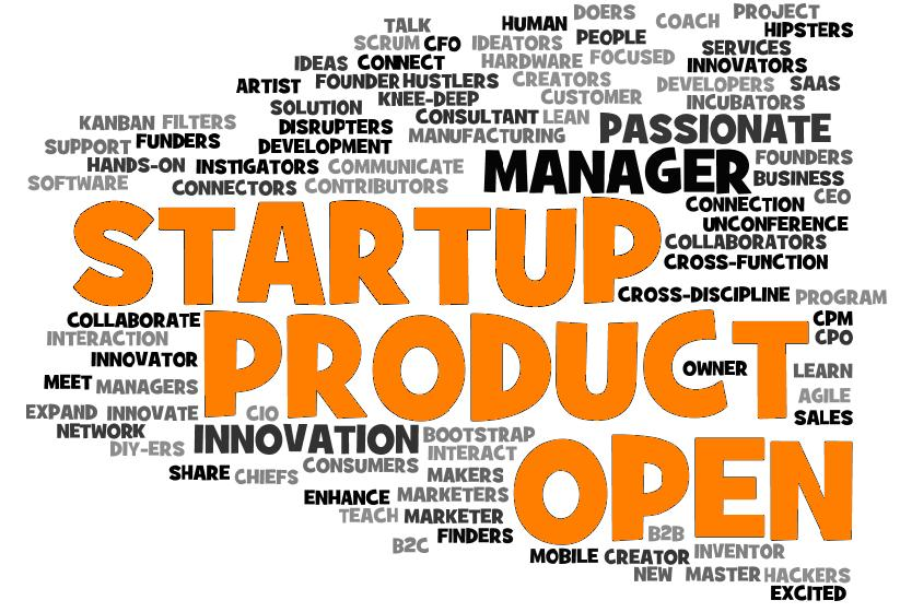 Startup Product Open wordcloud w/orange