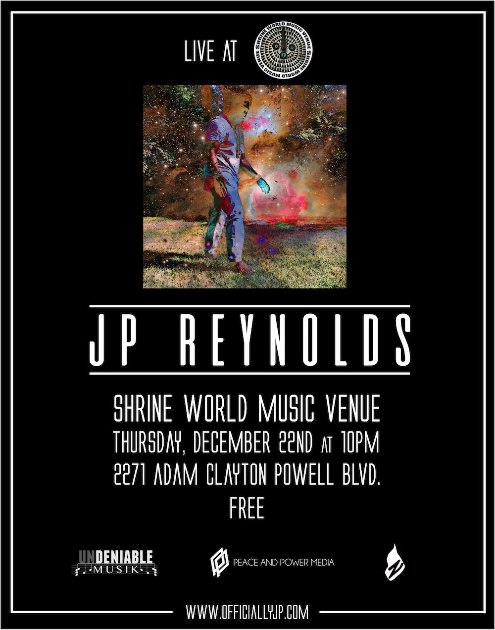 JP Reynolds Live at The Shrine