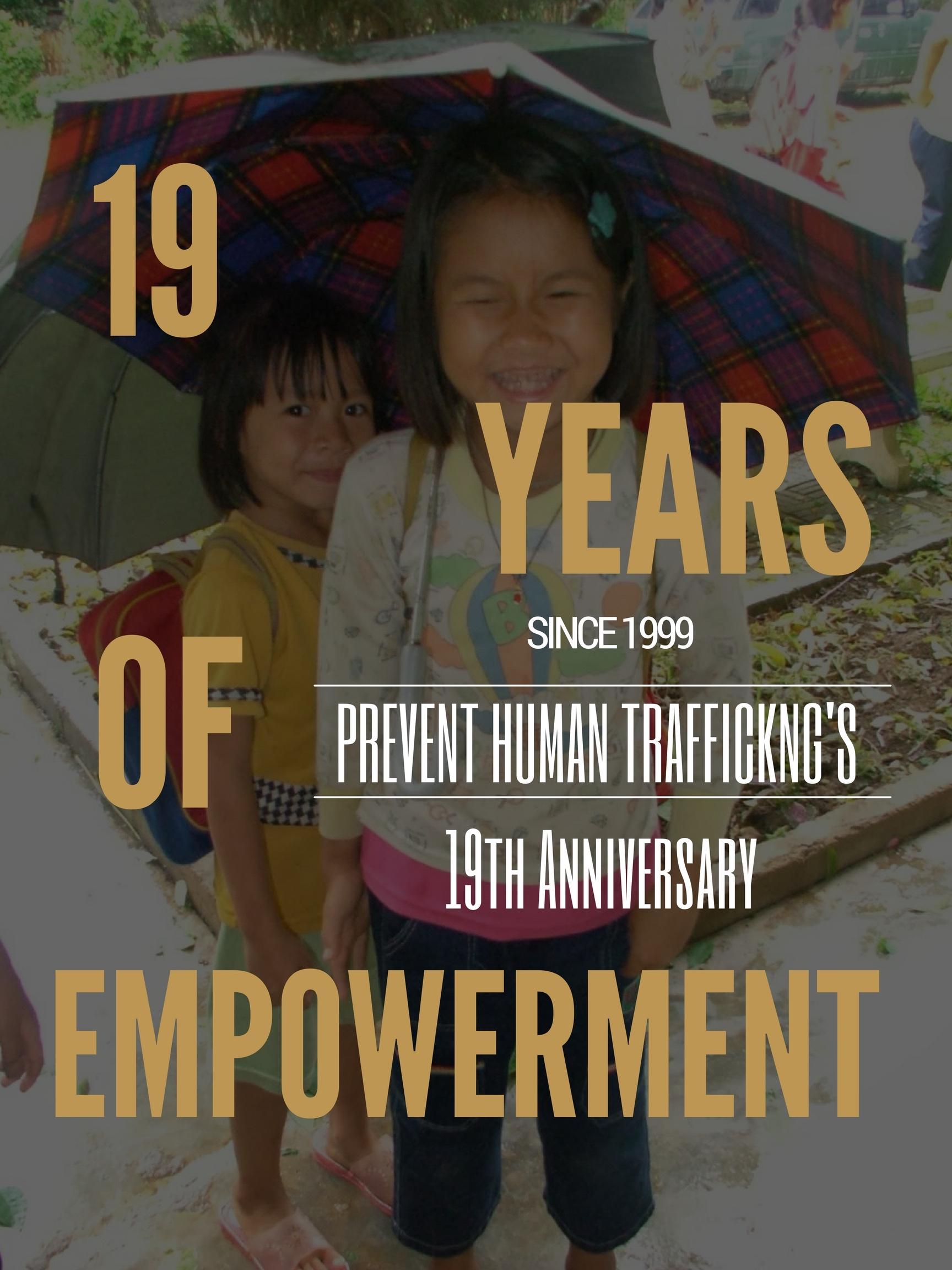 Prevent Human Trafficking's 19th Anniversary