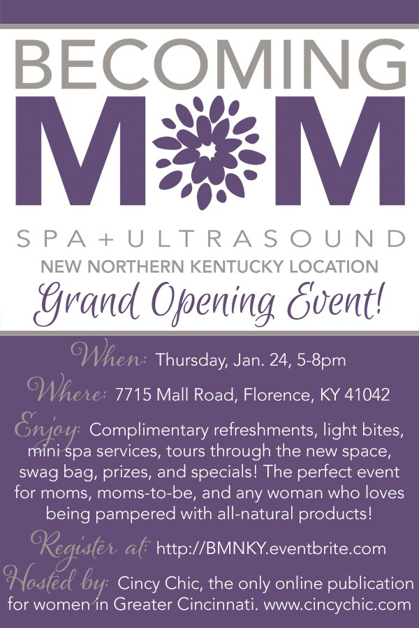 Becoming Mom Spa + Ultrasound New Northern Kentucky Location Grand Opening Event