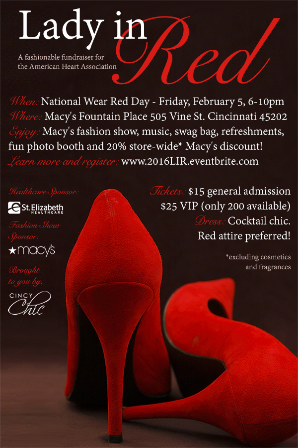 cincy chic lady in red 2016