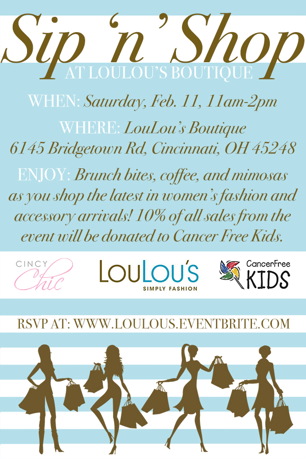 Sip 'n' Shop at Loulou's boutique