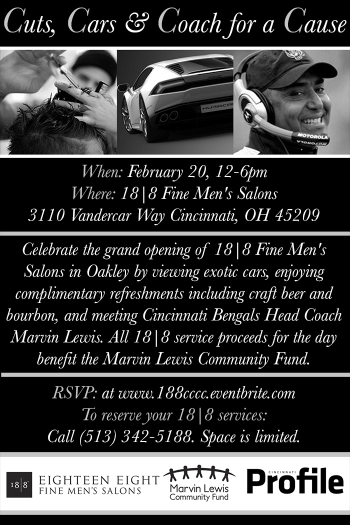 Cuts, Cars & Coach for a Cause
