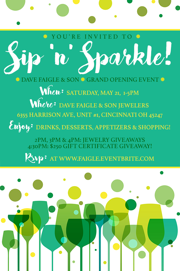 Sip 'n' Sparkle - Dave Faigle & Son Grand Opening Event