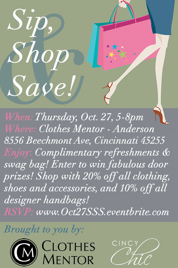 Sip, Shop & Save