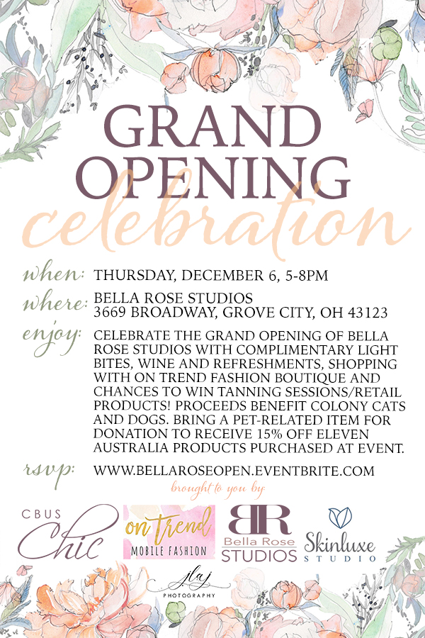 Bella Rose Studios Grand Opening