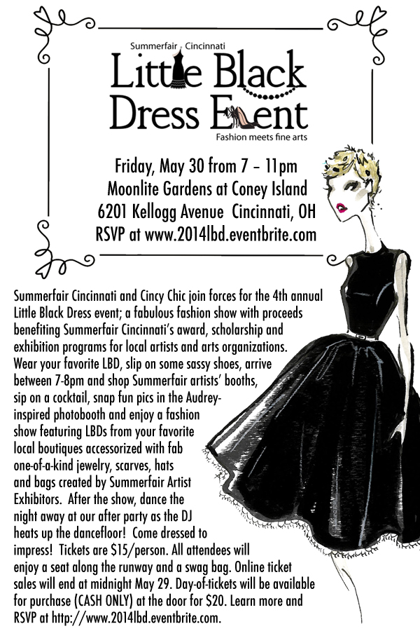 2014 cincy chic summerfair little black dress LBD event