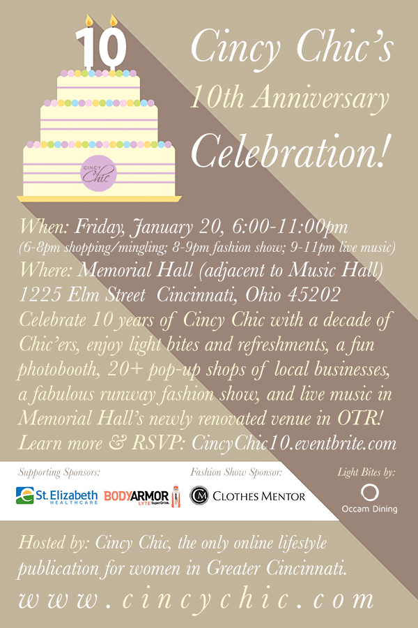 Cincy Chic's 10th Anniversary Celebration!