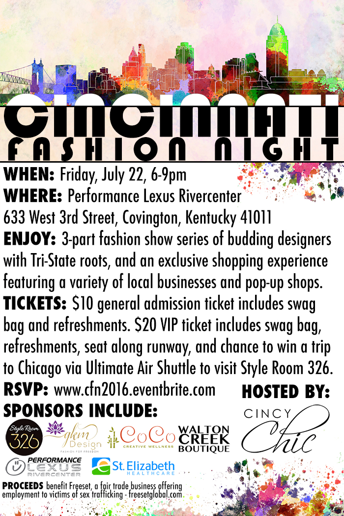 Cincinnati Fashion Night 2016