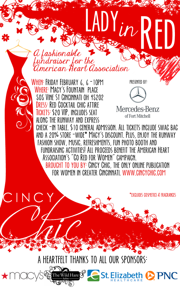 cincy chic Lady in Red 2015
