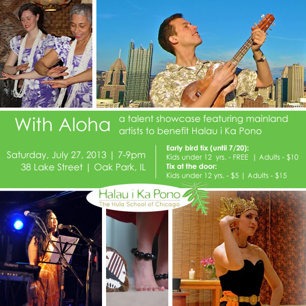 With Aloha | A talent showcase featuring mainland artists to benefit Halau i Ka Pono