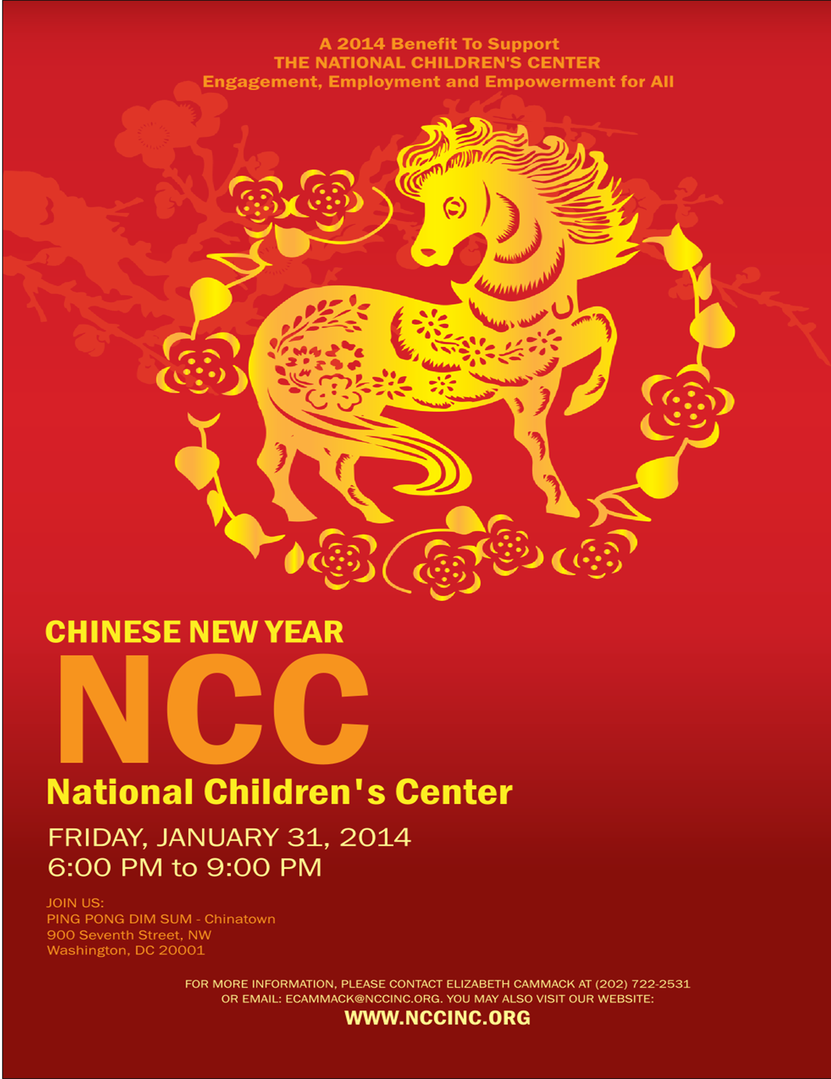 NCC Chinese New Year 2014 Invitation