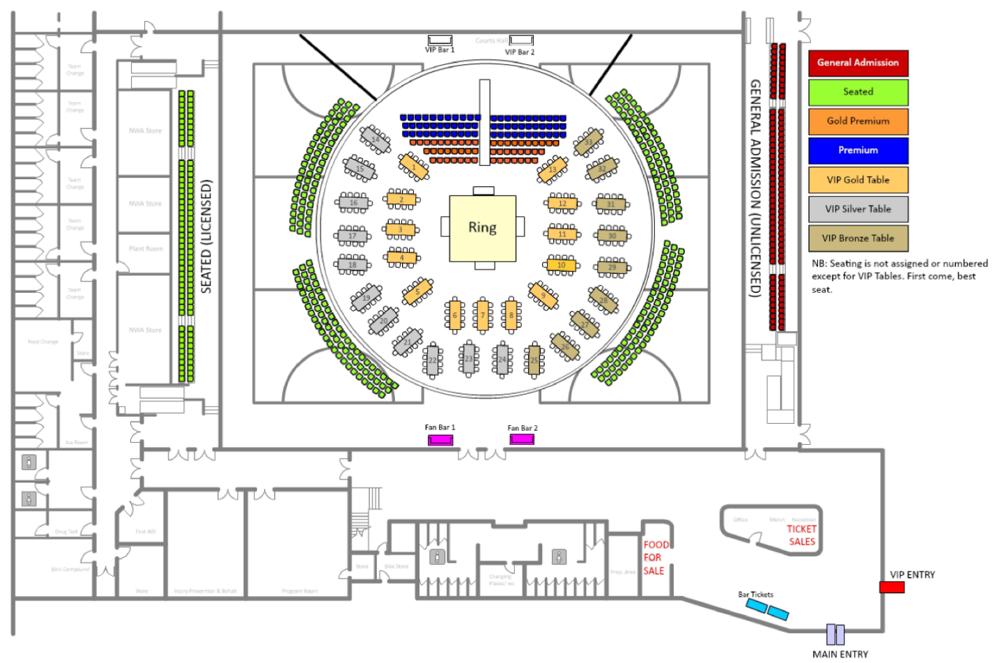Bragging Rights Seating Chart