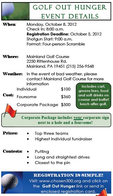 Golf Out Hunger Price Info