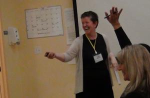 Anna McGrath Teaching At A Holacracy Taster Day WonderWorlks