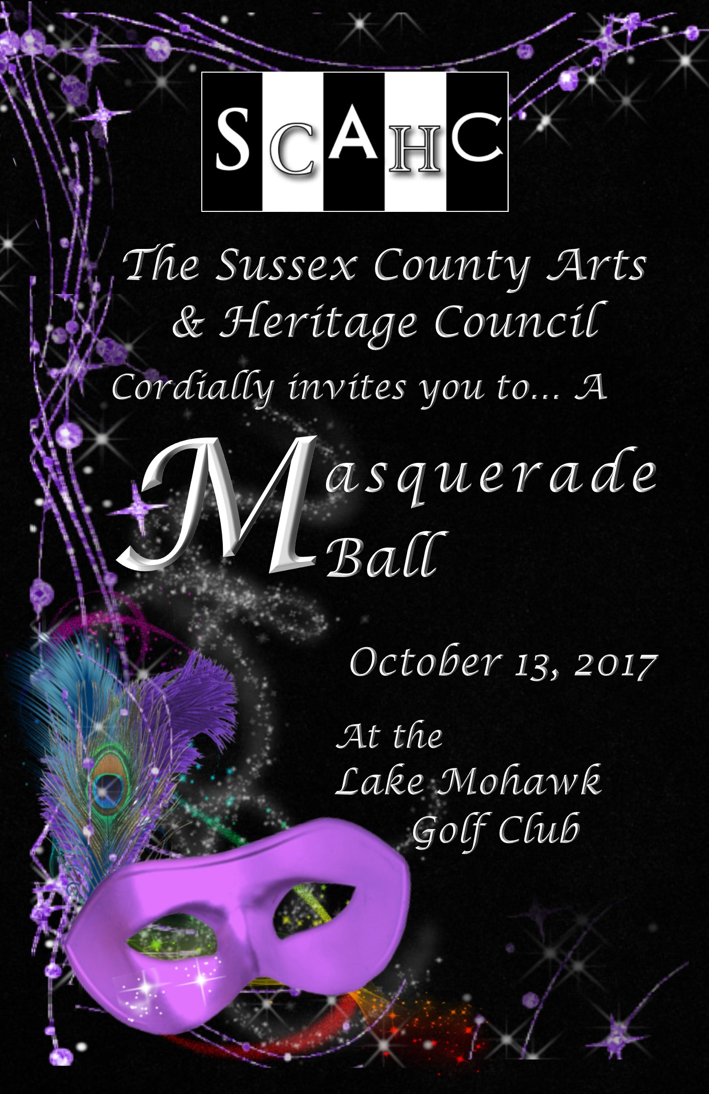 2017 Gala Masquerade Ball invitation front