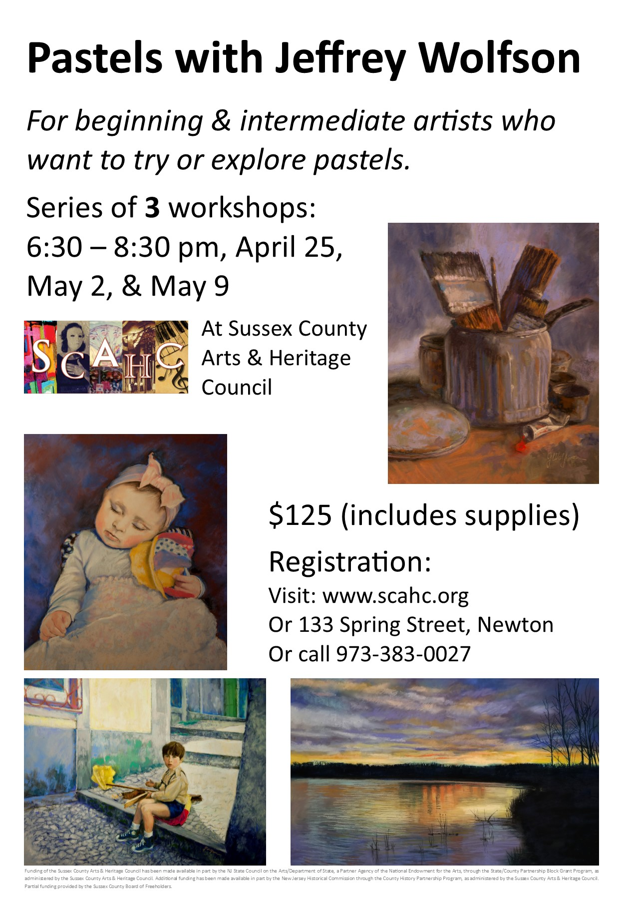 Flyer for Jeffrey Wolfson Pastel Workshop Series